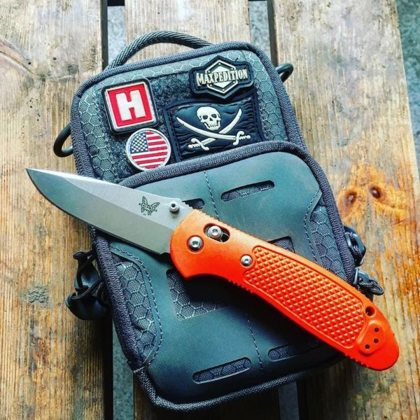 Benchmade - Work stuff #workingman #knives #everydaycarry #ukedc #benchmade #griptilian #n680steel #maxpedition #maxpatch #heinniehaynes #starsandstripes #dep...