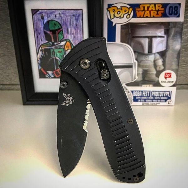 Benchmade - #BobaFett would approve of the #Benchmade #Presidio Can't wait to give this one the #bountyhunter worn handle look! ______________________________________...