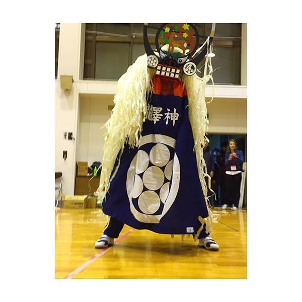 笑顔の架け橋Rainbowプロジェクト - Practice makes everything perfect!👌🏻 The shishi-odori workshop was so intense!😧 I barely keep up with the fan and sword dance!😫 Hands up to the people of...